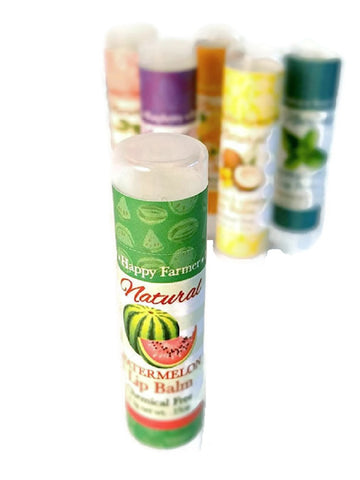 HAPPY FARMER Watermelon LIP BALM - All Natural Handmade Sun Protection