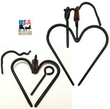 HEART DINNER BELL SET - Wrought Iron Chime Amish Hand Forged USA