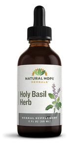 HOLY BASIL HERB - Traditional Brain, Stress & Respiratory Support Tonic