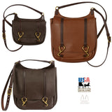 EQUESTRIAN LEATHER PURSE - Double Horse Hoofpick Shoulder Bag - 3 Sizes & Colors