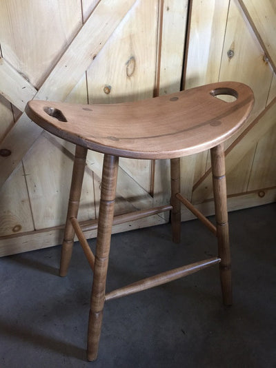 Saddle Stool Amish Handmade Custom Finish USA Made