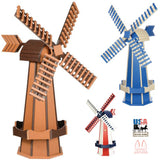 6½ FOOT JUMBO POLY WINDMILL - Working Dutch Garden Weather Vane in 22 Colors USA