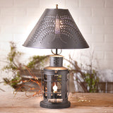 INKEEPER'S LAMP - Punched Willow Tin Shade with 3-Way Switch