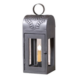 """LAKEVIEW"" LANTERN LIGHT- Smokey Black Wood and Punched Tin Lamp"