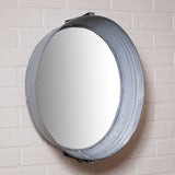 WASHTUB MIRROR - Country Wash Tub in Weathered Zinc Finish