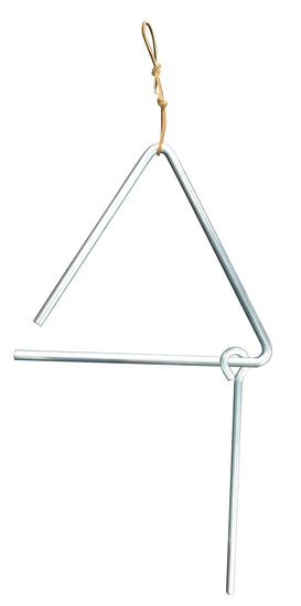 ALUMINUM DINNER BELL ♦ 3 SIZES ♦ Chuck Wagon Triangle Amish Handforged in USA