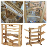 MARBLE RUN Classic Race Track Amish Handmade Quality - Glass Marbles Included