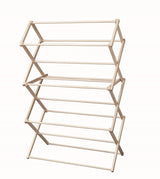 LARGE AMISH FOLDING DRYING RACK - 40W x 60H x 19½D Maple Clothes Laundry