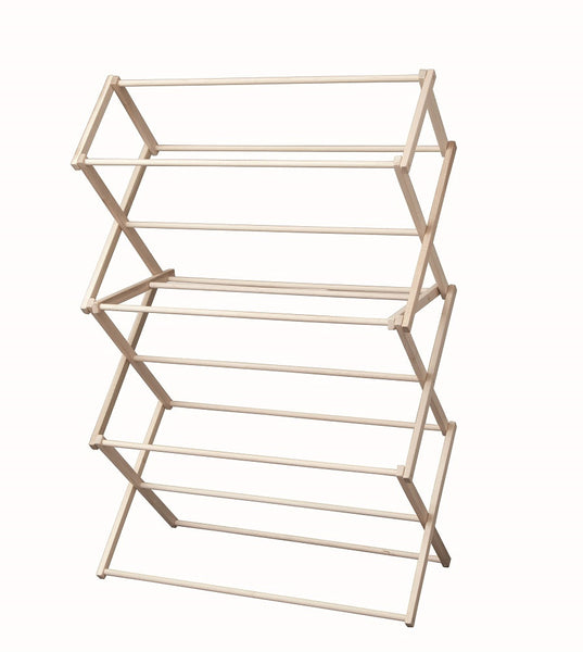 Large Amish Folding Drying Rack 40w X 60h X 19 189 D Maple