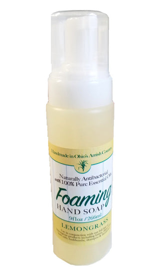 LEMONGRASS Foaming Hand Soap & Sanitizer - Natural Anti-Bacterial with 100% Pure Essential Oils