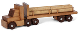 LARGE LOG TRUCK WOOD TOY Amish Handmade Tractor Trailer MADE in USA