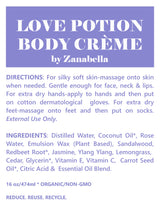 LOVE POTION ARTISAN BODY CREME - RICH & LUSH FOR EXTRA DRY CRACKED SKIN