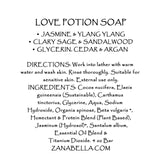 LOVE POTION GIFT SET- Organic Skin Care Body Creme, Artisan Soap & Bath Oil Set