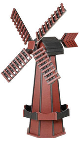 "41"" POLY WINDMILL - Working Dutch Garden Weathervane in 22 Colors Amish USA"