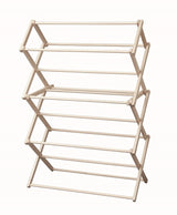 MEDIUM FOLDING DRYING RACK - Amish Handmade 36W x 52½H x 17D Maple Wood Clothes Laundry Hanger
