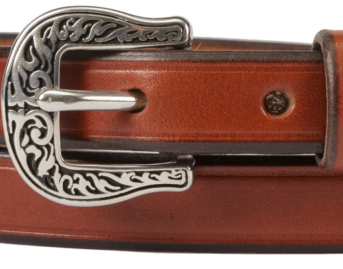 LADIES' BRIDLE LEATHER BELT - ¾