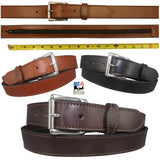 "MONEY BELT - English Bridle Leather Concealed 16"" Zipper Pouch - 3 Colors"