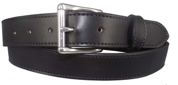 BLACK MONEY BELT - English Bridle Leather Concealed 16