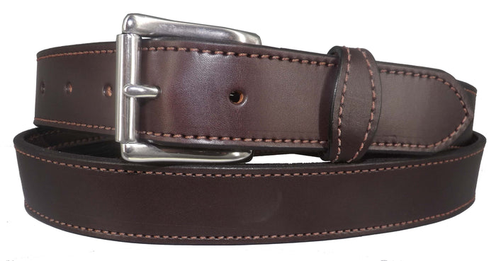 MONEY BELT - DARK BROWN English Bridle Leather Concealed 16