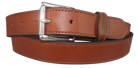 "BROWN MONEY BELT - English Bridle Leather Concealed 16"" Zipper Pouch"