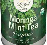 MORINGA MINT TEA - USDA Certified Organic Herbal Super Food