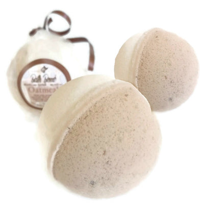 Oatmeal BATH BOMB 3 Pack All Natural Handmade for Dry & Itchy Skin