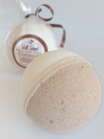 Oatmeal BATH BOMB All Natural Handmade for Dry & Itchy Skin