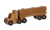 OIL TANKER TRUCK WOOD TOY Classic Amish Handmade Wooden Toys - Made in USA