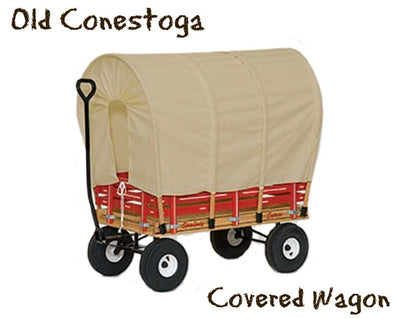 "LARGE CONESTOGA COVERED WAGON 48"" with 6½ Wide Off Road Tires * 4 Colors * Amish Made in USA"