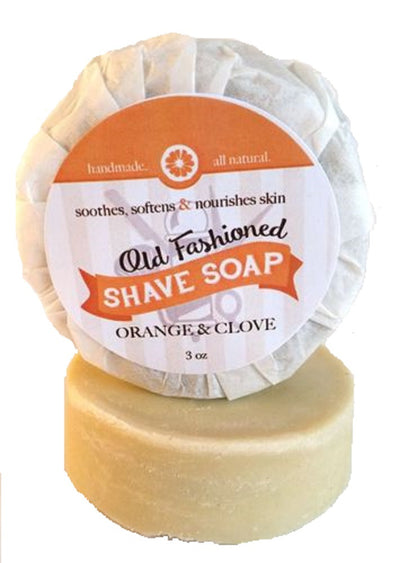 Orange Clove Moisturizing Shave Soap ~ Handmade Antibacterial Shaving Bar