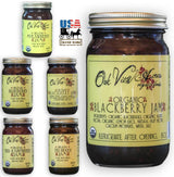 ORGANIC BLACKBERRY JAM - 100% All Natural Blended Whole Fruit Spread USA
