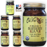 ORGANIC BLUEBERRY JAM - 100% All Natural Whole Fruit Spread USA