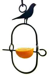 ORIOLE BIRD FEEDER - Hand Forged Wrought Iron Orange Holder