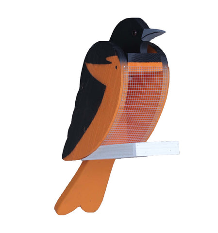 BALTIMORE ORIOLE BIRD FEEDER Large Solid Wood Feeders Handmade in USA