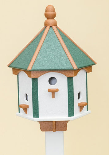 6 ROOM CLASSIC BIRDHOUSE - Amish Handmade Weatherproof Recycled Poly