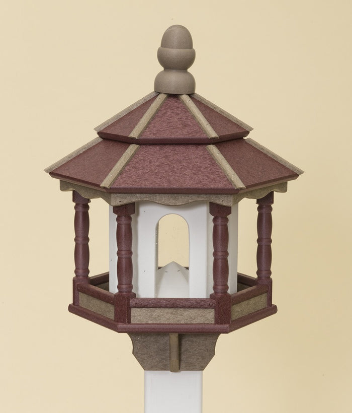 BIRD FEEDER ~ Amish Handmade Hexagon Recycled Poly - 10 Color Combos