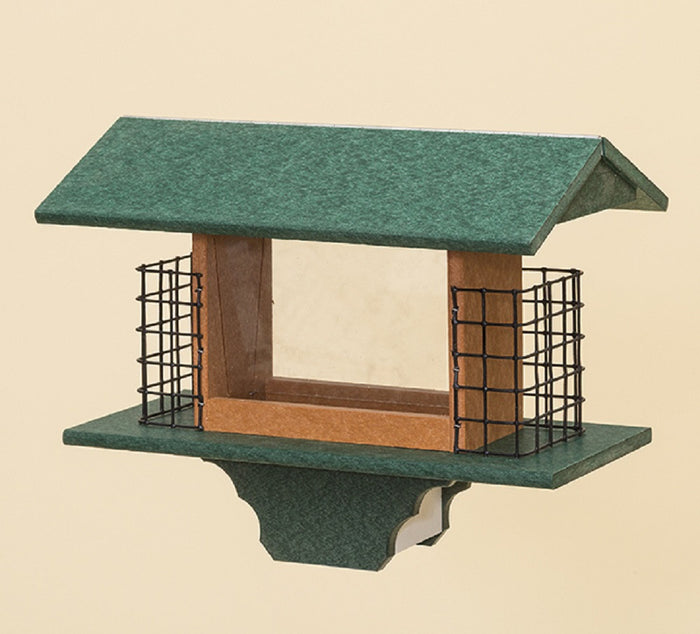 SEED & 2 CAKE SUET FEEDER - Large Amish Handmade with Custom Colors