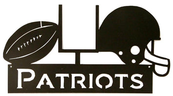 NEW ENGLAND PATRIOTS WROUGHT IRON WALL HANGING - NFL Football Decor