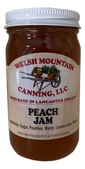 PEACH JAM - Amish Homemade Sweet Summer Fruit Spread