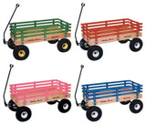 "LARGE WAGON 40"" Beach Cart in Choice of Color & Poly or Wood Bed"
