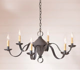 "6 Arm ""PUBLIC HOUSE"" - 2 Cone Candelabra in Blackened Tin"