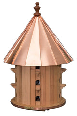 "35"" CEDAR PURPLE MARTIN BIRDHOUSE - 15 Hole Copper Roof Bird House"