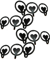 HEART & RING HOOK - Solid Wrought Iron Wall Hooks Amish Blacksmith USA