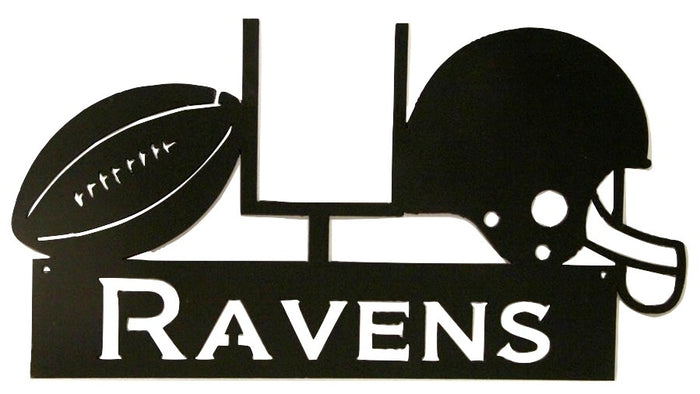 BALTIMORE RAVENS WROUGHT IRON WALL HANGING - NFL Football Decor