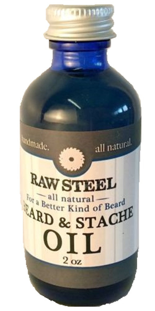 Raw Steel Beard Mustache Conditioning Oil Handmade All Natural Beeswax