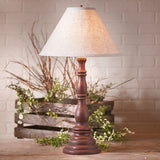 "DAVENPORT TABLE LAMP with 15"" Ivory Linen Shade in 10 Distressed Textured Finishes"