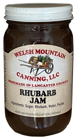 RHUBARB JAM - Amish Homemade Sweet & Tangy Spread