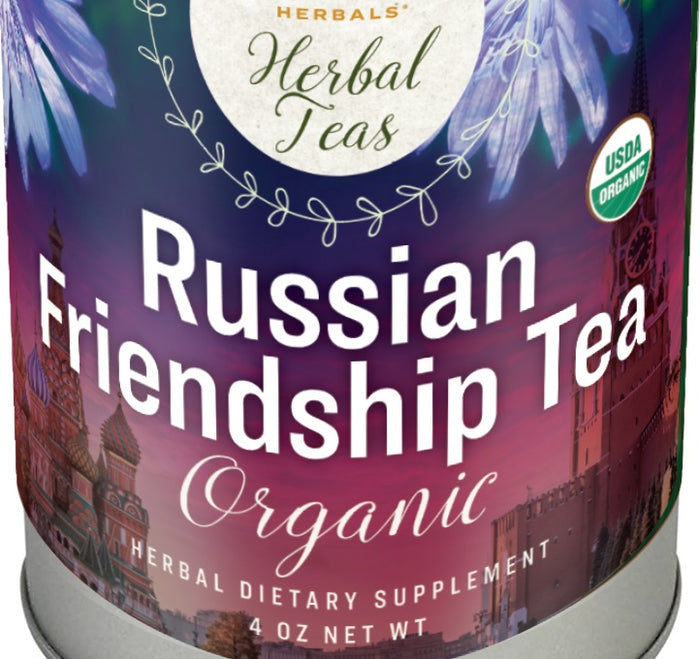 RUSSIAN FRIENDSHIP TEA - USDA Certified Organic Caffeine Free Energizing Blend
