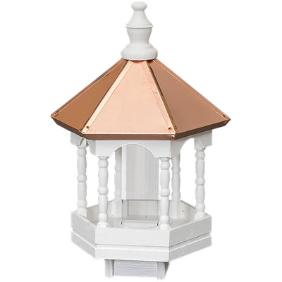 "22"" COPPER TOP BIRD FEEDER - Gazebo with Spindles"