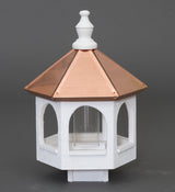 "20"" COPPER TOP BIRD FEEDER - 14"" Round White Gazebo"